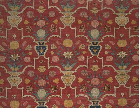 The indian vase carpet fragment decisions and discussions for Indian carpet designs