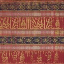 Silk with Arabic inscription, silk and metal-wrapped thread in lampas weave, Spain, 1300-1400. Museum no. 830-1894