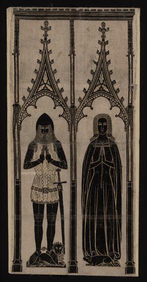 circa 1380. Sir - Dallingridge and wife, Fletching, Sussex.