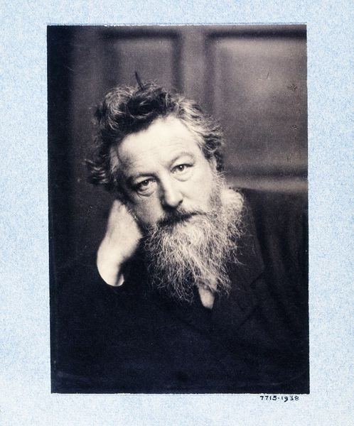 William Morris, photograph, Frederick Hollyer, 1884 © Victoria and Albert Museum, London