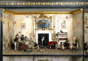 Drawing room of Killer Cabinet dolls' house, W.15-1936 (c)V&A Museum, London