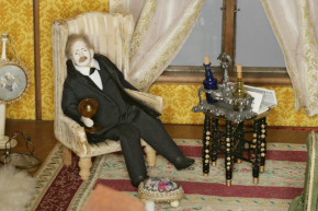 'Uncle Herman' in the saloon of Betty Pinney's House, Misc.14-1988 (c)V&A Museum, London