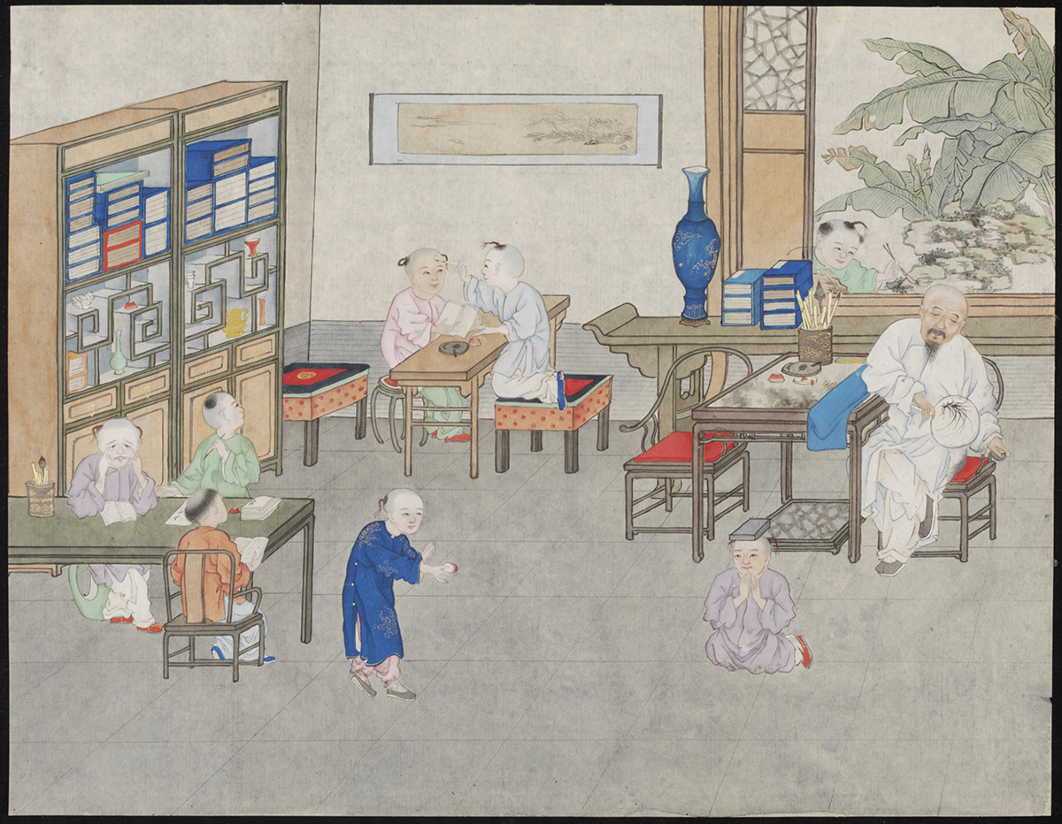 Schoolroom – watercolour on paper (7791:12) © The Victoria and Albert Museum