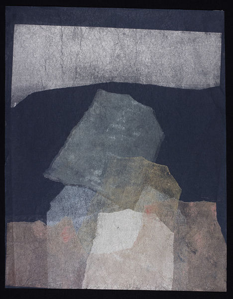 Abstract print of representing Stonehenge.