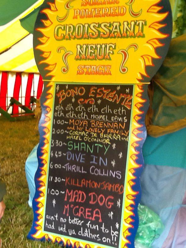 Chalkboard programme in Circus field
