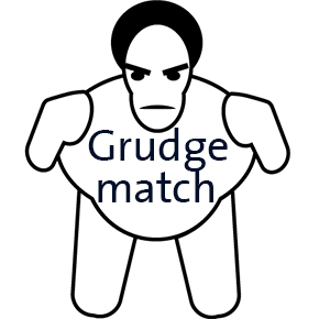 Image fo Sumo wrestler with Grudge Match on chest
