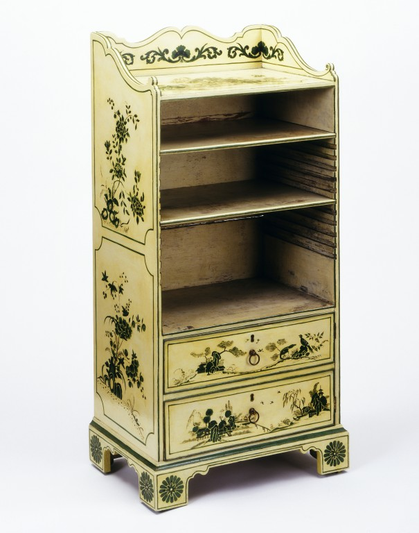 Bookcase, painted with chinoiserie decoration