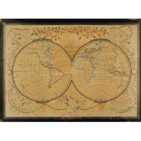 The World (Sampler) Late 18th century (T.44-1951)