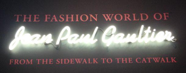 Entrance to the Jean Paul Gaultier Exhibition, Barbican.