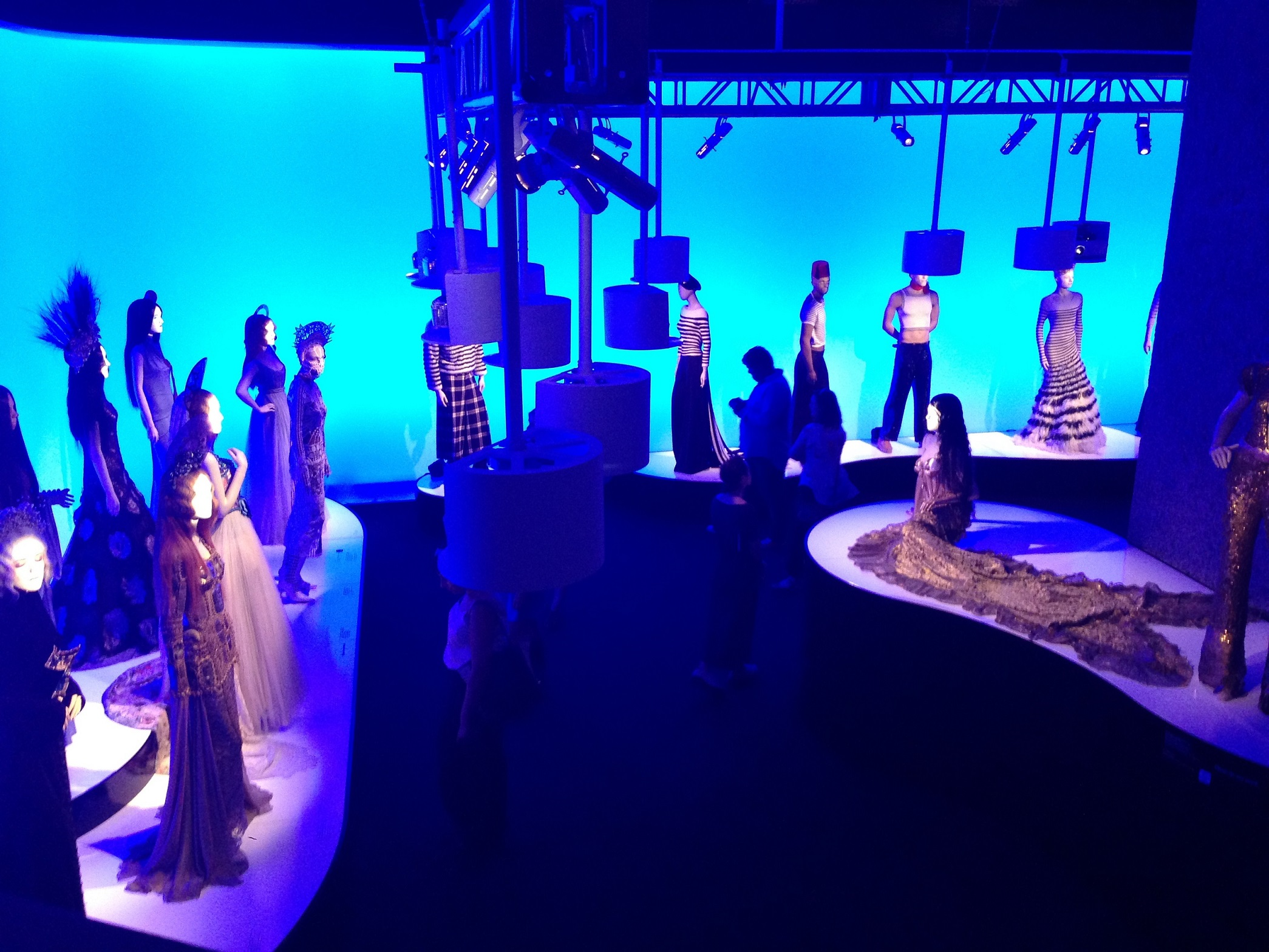 First room at the Jean Paul Gaultier Exhibition at the Barbican. © Katherine Elliott, 2014