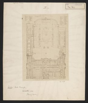 Plan for the Horticultural Society for the 1862 International Exhibition, 52:227. Victoria and Albert Museu, London