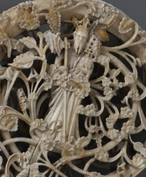 Detail of crozier showing St. Olaf, A.1-2002 © Victoria and Albert Museum, London