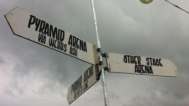 Signage at Glastonbury Festival