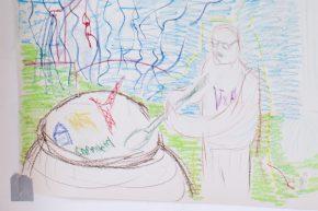 Adam Pirani has penned a jocular portrait of the community artist. © Constantine Gras