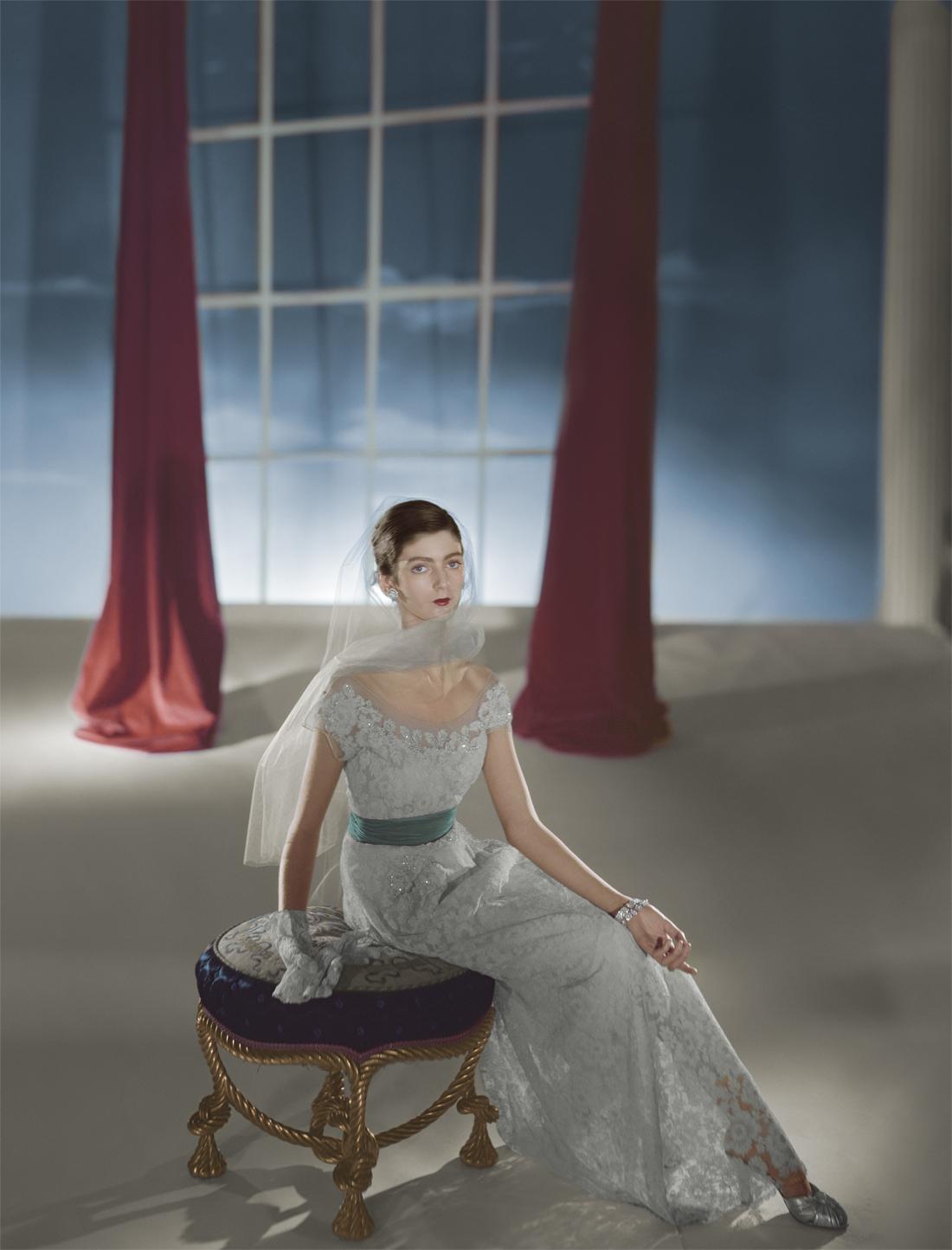 'After' Dress by Hattie Carnegie, modelled by Carmen Dell'Orefice
