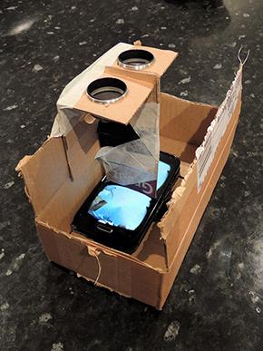 Prototype virtual reality headset