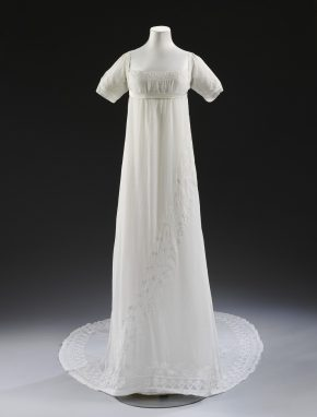 White muslin dress worn by Mary Dalton Norcliffe, 1807