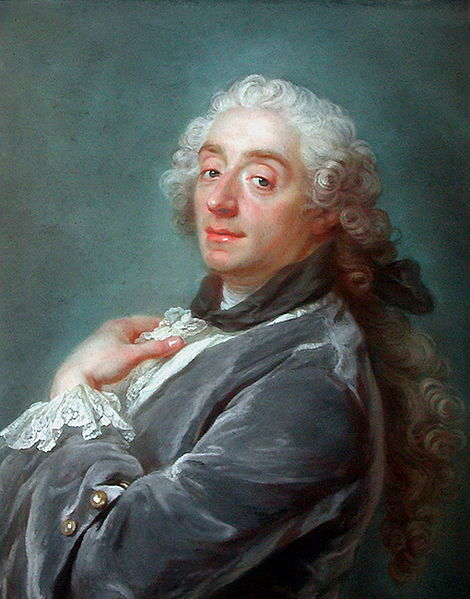 Portrait of François Boucher, reception piece by Gustaf Lundberg for the Académie Royale de Peinture presented on January 28, 1741. Musée du Louvre