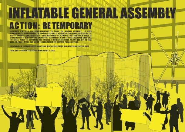 Inflatable General Assembly DIY Manual - Front Page. Created by Common Practice.