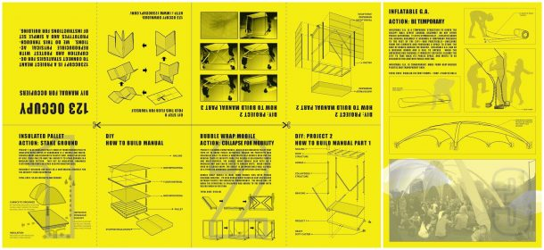 '123 Occupy, DIY Manual for occupiers', Common Practice (fmr. 123 Occupy), USA, 20122 . Image by Common Practice.