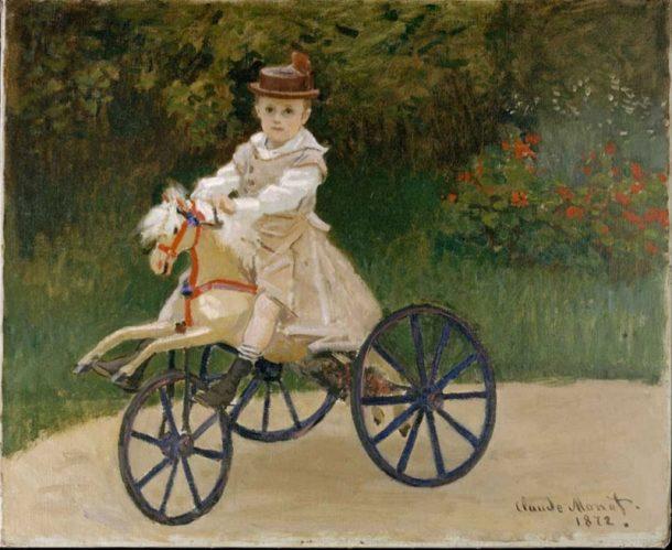 Child on hobby horse, Claude Monet, 1872.