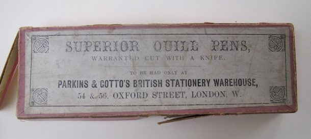 Parkins and Gotto's Superior Quill Pens. 19thc. © Victoria and Albert Museum, London.
