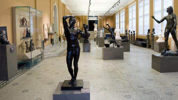 Rodin sculptures on display in Room 21 of the V&A.