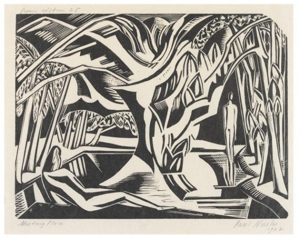 """The Meeting Place"", Paul Nash, 1922 © Victoria and Albert Museum, London"