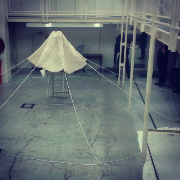 Mock-up of Tipu's tent in the exhibition stores.