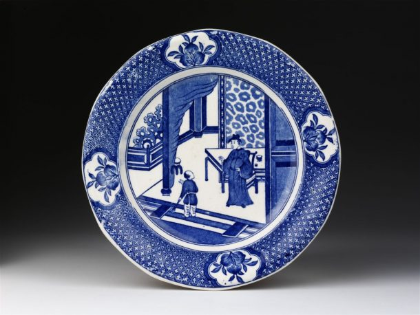 Plate with China pattern
