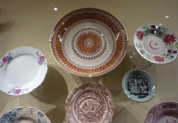 European ceramics on display at the Malay Heritage Centre