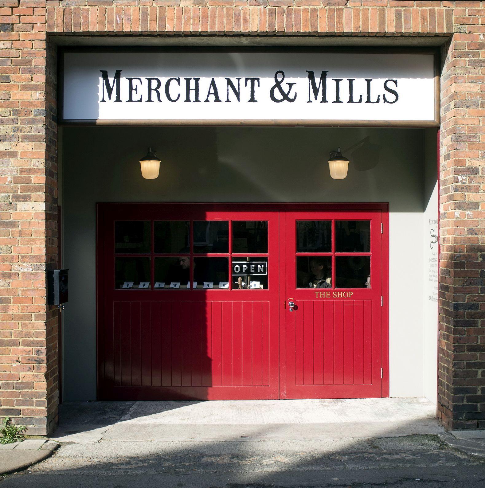 Shop front of Merchant & Mills store in Rye