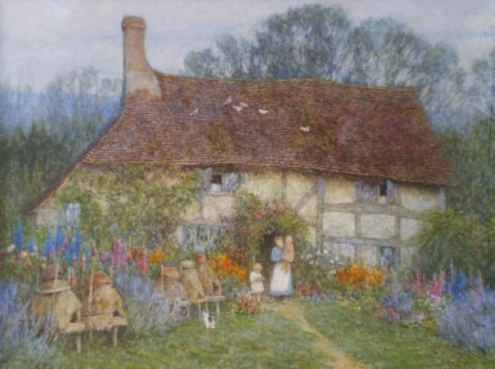 A Surrey Cottage, 1880, watercolour by Helen Allingham. Courtesy of Burgh House & Hampstead Museum