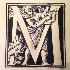 Sykes's dramatic M from the Prints & Drawings Archive © V&A Museum