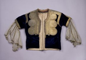 Ceremonial jacket worn by a Jewish woman; embroidered velvet, 1800s, Moroccan. Victoria and Albert Museum, London.