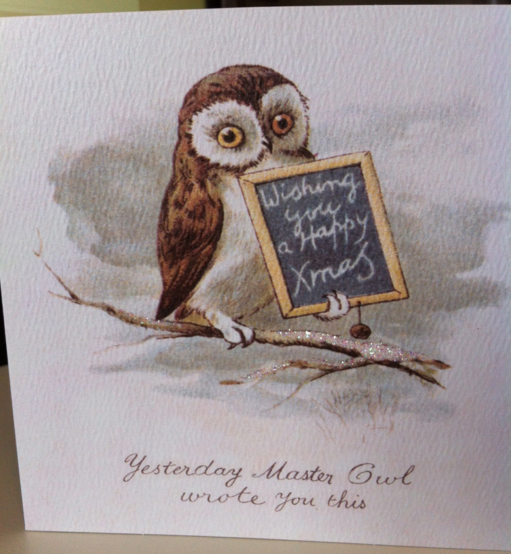 Yesterday Master Owl wrote you this beautiful wish, all by himself ...