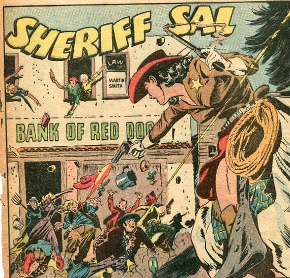 Sheriff Sal. Western Adventures, no.2 Dec.1948. Ace Comics