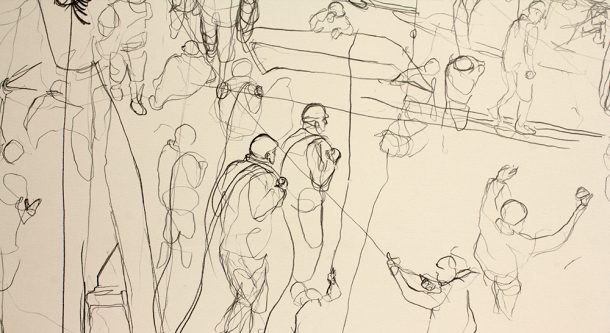 Scroll drawing (detail)
