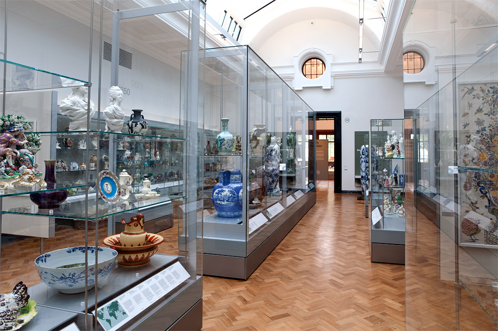 The refurbished ceramics galleries, 2010 © Victoria and Albert Museum, London.