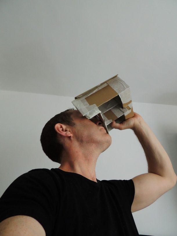 Andrew Lewis' DIY stereoscope © Andrew Lewis