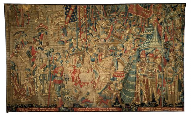 'The War of Troy', tapestry showing scenes from the Trojan wars, Tournai, Belgium, 1475-1490, Museum no.6-1887 © Victoria and Albert Museum, London