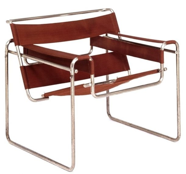 Marcel Breuer, model B3 club chair, designed at the Bauhaus school, 1925; this example was made by Standard Möbel (1927) or Thanet (1928). Museum no. W.2-2005 © Victoria and Albert Museum, London / Marcel Breuer