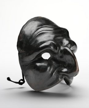 Commedia Dell' Arte Mask: Arlecchino or Harlequin  (currently catalogued as Pulcinella), Italy, 1700–25. Museum no. W.60-1929 © Victoria and Albert Museum, London