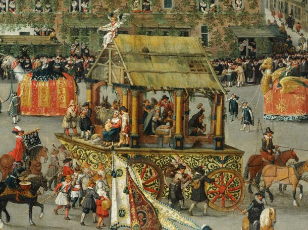 'The Ommeganck in Brussels on 31 May 1615: The Triumph of Archduchess Isabella' [detail], Denys van Alsloot, Belgium, 1616. Museum no. 5928-1859 © Victoria and Albert Museum, London