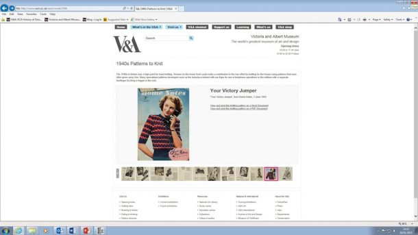'Your Victory Jumper' online on the V&A website