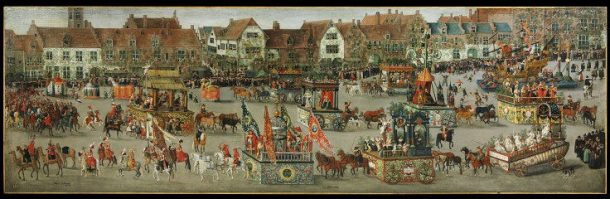 'The Ommeganck in Brussels on 31 May 1615: The Triumph of Archduchess Isabella', Denys van Alsloot, Belgium, 1616. Museum no. 5928-1859 © Victoria and Albert Museum, London