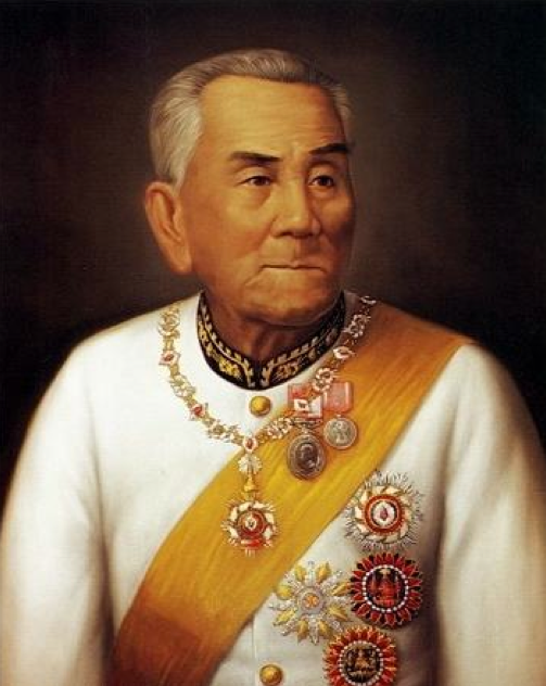 Illustration 9. Phra Chao Inthawichayanon the 7th King Ruler of Chiang Mai and Ruler of Lanna (r.1870–97). Dressed in Siamese-style diplomatic dress uniform decorated with the Siamese order of the Royal House of Chakri. Image courtesy of Chiang Mai Art and Culture Centre.
