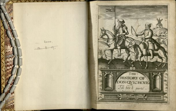 Frontispiece to 1620 version of 'Don Quixote' NAL: Dyce 2000. ©V&A Museum.