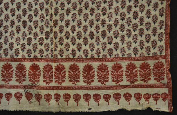 Block printed textile from the V&A collections. Wrapped Garment, Cotton, woven and printed, ca. 1855-1879, Sanganer India, V&A.4497