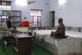 Statue of Gandhi in a Khadi shop, Jaipur.